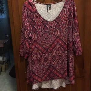 Cynthia Rowley 1x v neck top